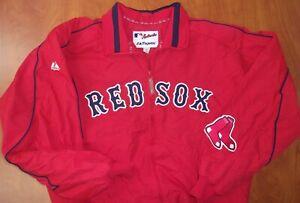 Majestic MLB Boston Red Sox Baseball Authentic Stitched Dugout Jacket L