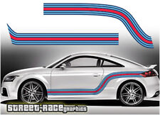 Audi Martini side racing stripes 006 vinyl graphics stickers A1 S1 TT A3 S3