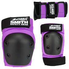 Smith Scabs Safety Gear -  YOUTH 3 PACK - Purple - skateboard Jr Roller Derby