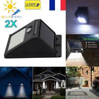 LOT de 2 Lampe Solaire 20 LED Eclairage Exterieur étanche Détecteur Mouvement