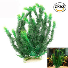 2PCS Artificial Grass Aquarium Ornament Water Plant Plastic Large Fish Tank