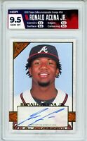 2020 Topps Gallery Autographs RONALD ACUNA JR. Orange (17/25) HGA 9.5 GEM MT