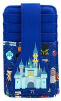 Disney Parks Cinderella Castle Park Icons Credit Card Holder ID Wallet RFID  NEW