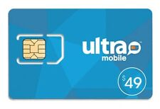 Ultra Mobile $49 Plan for 1 Month Service with Triple punch SIM Card
