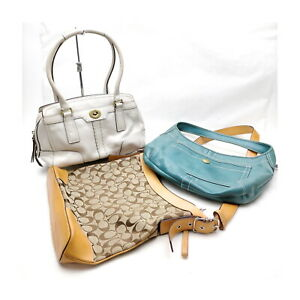 Coach Hand Bag  3 set Whites Leather 1136066