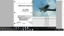 Cessna 182 service maintenance  manual set n engine 1956 - 1968 Library