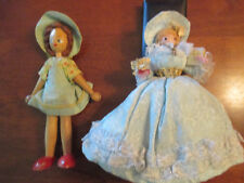 Wooden Dolls 1 clothespin and one regular. Vintage..Very Pretty