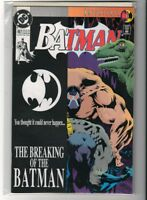 DC Comics BATMAN 497 Bane Breaking of Batman Knightfall N/mint 1st print 1993