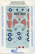 SuperScale Decals 1:72 P-47 D Thunderbolt Bubble Tops 527th FS/86th FG #72-879