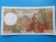 10 francs Voltaire 6-11-1969 F62/40 SUP
