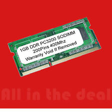 1GB DDR PC3200 SODIMM 1 GB PC 3200 400MHz LAPTOP MEMORY