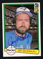 Joey McLaughlin #507 signed autograph auto 1982 Donruss Baseball Trading Card