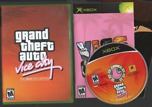 GRAND THEFT AUTO VICE CITY XBOX COLLECTION complete Manual Map/poster tested A+
