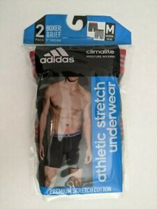 """men' adidas boxer brief 5"""" inseam medium gray (2 pack)"""