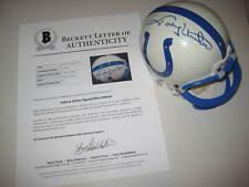 JOHNNY UNITAS Signed Baltimore COLTS Mini-helmet w/ Beckett LOA