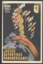 Argentina Postcard Bs Aires 1 st Pan American Games 1951