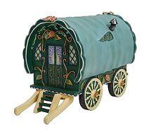 Vivid Arts Green Gypsy Caravan