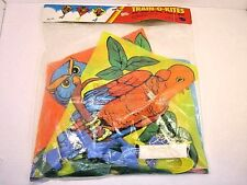 VINTAGE TRAIN-O-KITES GO FLY A KITE UNOPENED PACKAGE OWL TOUCAN PARROT BIRD