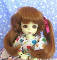 Kemper JANEY C. Red Full Cap Doll Wig Size 10-11 Ponytails + Bangs