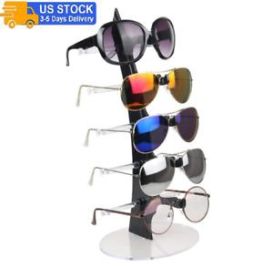 Eyeglass Sunglasses Storage Display Rack Holder Organizer Case for 5 Glasses NEW