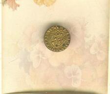 Early 1 Piece 18th Century Spain Civil Servant Cuff Button