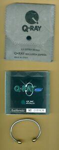 Q-Ray Silver Plate Ionized Energy Healing Bracelet w/ CASE & Warrantee X-SMALL