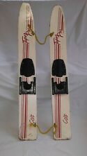 """New listing Vintage Pair of Colt Taper Pro Child Trainng Wood Waterskis Water Skis 45"""" Long."""