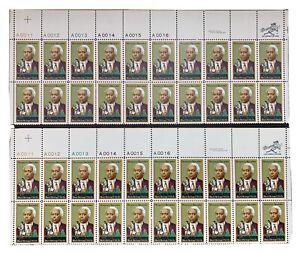 Scott #1804 Benjamin Banneker Black Heritage 15¢ Two Panels Of 20 Stamps Each.