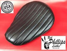 Tuck & Roll Black Bates Style Motorcycle Seat Leather Solo Rich Phillips Leather