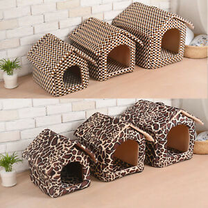 AcornPets Soft Puppy Pets Cat Nest Dog Bed Warm House Doggy Cushion Basket Brown