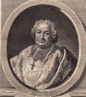 Portrait XVIIIe Charles Joachim Colbert de Croissy Evêque Montpellier Janséniste