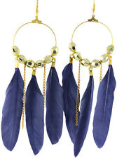 wf075 wholesale lots 6 pairs feather chandelier dangle earrings bead circle hot