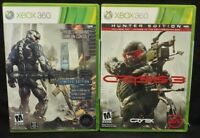 Crysis 2 + 3 Limited Hunter Editon XBOX 360 2 GAME Lot Tested + Complete