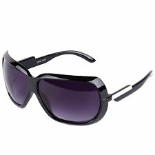 Retro Style Square Wrap Sunglasses (Black)