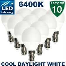 10x Bulbs Bright Golf Ball LED Light Bulb E14 Round Frosted Lamp Daylight 5W