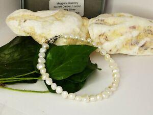 UK Luxury White Freshwater Pearls Bracelets