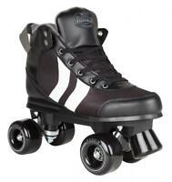 New Rookie Deluxe Unisex Kids Adults Quad Wheels Roller Skates Unisex Black