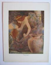 LARGE ORIG 1914 COLLIER'S LITHO ART PRINT QUEEN GULNARE of the SEA MERMAID MAGIC