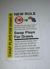 Swap Plays For Draws Promo Card for use in any Fluxx game