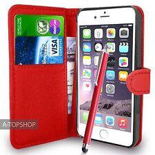 Rouge étui porte-feuille Cuir PU Livre coque pour Apple iPhone 7