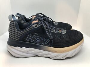 Hoka One One Bondi 6 Women Running Shoes Size US 6 D Wide Blue Purple Grey D1