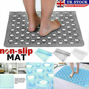 Non-Slip Bath Shower Mat Bathroom PVC Rubber Mats Anti Slip Suction 42 X 42 cm