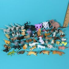 Vintage Plastic Animal Figures Kitty Cat Puppy Dog Barbie Dollhouse Pet Lot 3