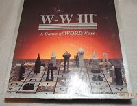 W W III A Board Game of Word Wars 1993 100% COMPLETE UNPLAYED CONDITION!