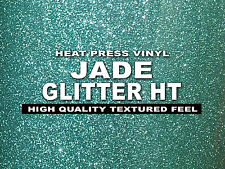 "12""x20"" JADE SUPER Glitter Heat transfer thermal Press vinyl,T- Shirt,sheet/roll"