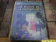 TINTIN LES BIJOUX DE LA CASTAFIORE 2e édition B35 64 ASSEZ BON ETAT DOS RESTAURE