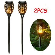 2x 12Led Landscape Garden Flame Lamp Solar Lamp Outdoor Lawn Waterproof Light