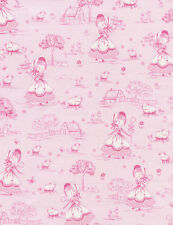 Juvenile Fabric - Little Bo Peep Light Pink Toile - Timeless Treasures YARD