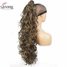 Long Curly Claw Clip Ponytail Hairpiece Hair Extensions Synthetic Heat Resistant