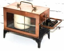 "Vintage ""EDNEY"" Copper Cased Barometer Thermograph c1940 - FREE Shipping [P4053]"